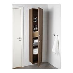 "GODMORGON High cabinet, walnut effect walnut - 15 3/4x11 3/4x75 5/8 "" - IKEA"