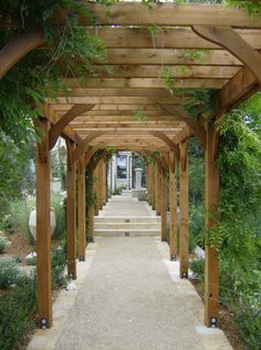 Like the extra supports that are creating more of an archway.  Walkway Arbor - Geared for Growing, Santa Rosa, CA