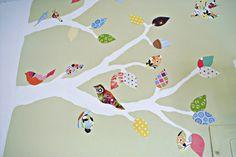 birdy wall tree