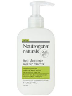 """Neutrogena Naturals Purifying Facial Cleanser. The women of my family always used the Neutrogena make up remover that came in the blue bottle. We would literally just call it """"The Blue Soap"""". After a little research I took a chance on this one instead. Slightly more expensive but doesn't burn my eyes, dry out my skin, and doesn't leave any gunk behind. Big fan."""