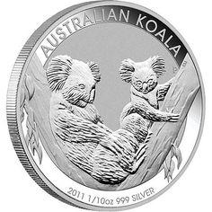 2011 - 1/10th oz. Australian Silver Bullion Coin - reverse side