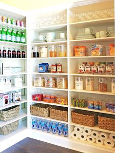 Some of us include a pantry into our kitchen layout. A pantry helps to keep required various items, from canned foods to aprons. A pantry shouldn't always require big area. Read Stylish Kitchen Pantry Ideas 2020 (For Cool Kitchen) Kitchen Organization Pantry, Home Organisation, Kitchen Storage, Organized Pantry, Pantry Ideas, Organization Ideas, Storage Ideas, Storage Canisters, Storage Bins
