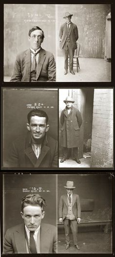 Police mugshots from the 20's. It's quite amazing the freedom police officers took in ''framing'' felons.