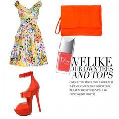 5 Outfits para ir a una boda de día. Vestido Vivienne Westwood, Zapatos Jimmy Choo, Bolso Jas MB, Esmalte de uñas Dior.