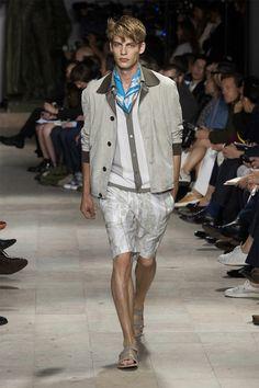 Baptiste Radufe walking the Hermes S/S15 runway. #malemodel #runway #menswear
