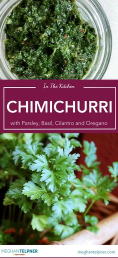 Chimichurri with Parsley, Basil, Cilantro and Oregano