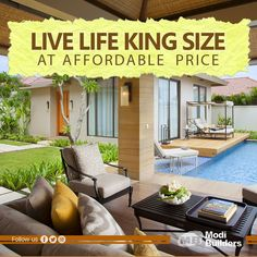If you wish to live a #life king-size, villas by #ModiBuilders are the best deal for you. With all the #luxury features, these villas are being offered at #affordable prices. Book yours now!