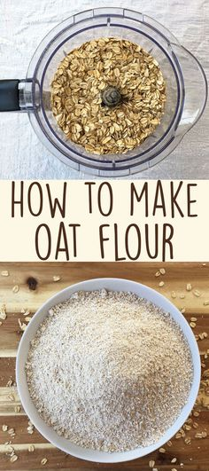 Homemade oat flour is very simple to make, and makes for a great gluten-free flour alternative in muffins and other baked goods. (Oat Flour Recipe)