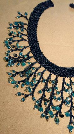 Boncuk kolye Pinned by @Manaro Design Jewelry | Beading | Bracelet | Necklace | Earrings