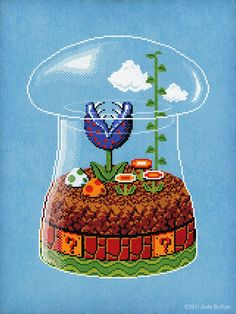 "8-Bit Terrarium, based on ""Super Mario Bros."", for Giant Robot's ""Game Over 4"" exhibition."