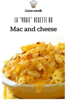 The Mac and cheese is the United States that beef bourguignon is in France! An institution, a dish from childhood that we necessarily love. On the menu: pasta, cheddar cheese and béchamel. An entire program ! Healthy Lunches For Kids, Fast Healthy Meals, Easy Healthy Recipes, Best Dinner Recipes, Lunch Recipes, Mc N Cheese, Bechamel, Naan, Cheese Recipes