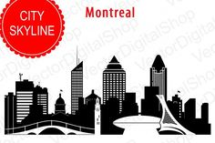 Montreal Vector silhouette, Canada Skyline USA city, SVG, JPG, PNG, DWG, CDR, EPS, AI from DesignBundles.net