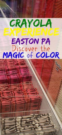 The Crayola Experience in Easton PA is an awesome place to visit. Discover the #magicofcolor and explore the world of Crayola. You can make your own crayon, paint with melted wax, float a Crayola boat, and so much more. @VisitCrayola AD
