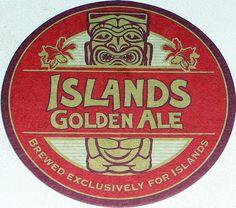 Islands Golden Ale coaster
