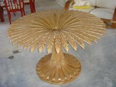 Italian Palm Tree Flower Dining Table
