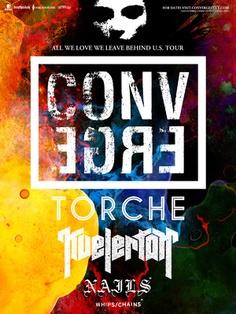 Converge w/ Torche, Kvelertak, Whips/Chains    Monday, November 12, 2012  Doors: 7pm / Show: TBA  The Sinclair  Cambridge, MA