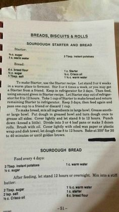 Sourdough Starter & Bread