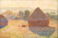 LICHT UND ATMOSPHÄRE Die Darstellung des Lichts, der Luft und der Atmosphäre  Claude Monet, Getreideschober bei Sonnenuntergang, 1891, Öl auf Leinwand, 73,3 x 92,6 cm, Museum of Fine Arts, Boston