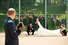 Baseball Wedding Party Photo