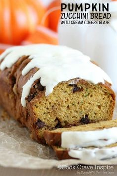 Moist Pumpkin Zucchini Bread! The perfect way to enjoy zucchini from your garden! This bread is moist and totally irresistible!
