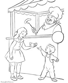 printable circus fun coloring page