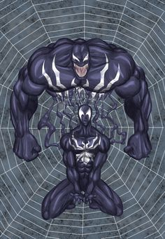 The movie of Spiderman is coming, so i just drew my version of spidey with venom poisoning him. Venom Spiderman, Black Spiderman, Marvel Venom, Spiderman Art, Marvel Vs, Marvel Heroes, Marvel Comic Books, Comic Book Characters, Marvel Characters