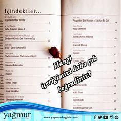 Hangi içeriğimizi daha çok beğendiniz? Bizimle paylaşır mısınız? #hangi #içerik #paylaş #bizimle #şiir #edebiyat #yagmurdergisi