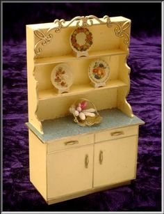 This is a beautifully detailed Ideal Petite Princess kitchen hutch with plates and flowers. The doors and drawers open. One of the draws in for silverware. It is in great condition and measures approx. | eBay!
