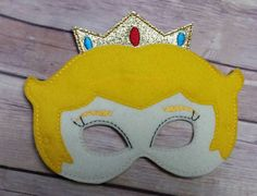 Mario World Princess Peach mask Pretend Play Mask Party Favor Dress Up by CarriesHairPretties1 on Etsy https://www.etsy.com/listing/248086824/mario-world-princess-peach-mask-pretend