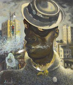 Subway Rider, 2016 by John Byrne (Scottish John Byrne, Art Society, Face Reference, Black Image, Art For Art Sake, Portraits, Fine Art Gallery, Figurative Art, Character Design