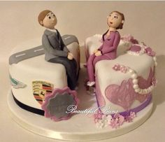 Birthday Cake Ideas For Husband And Wife : Two birthday cakes in one. Fondant Cake Ideas ...