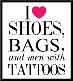shoes, bags, men with tattoos