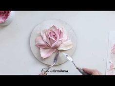 circle rose sculpture painting - YouTube Diy Plaster, Plaster Crafts, Decorative Plaster, Plaster Sculpture, Sculpture Painting, Craft Work For Kids, Hand Painted Walls, Flower Tutorial, Texture Art