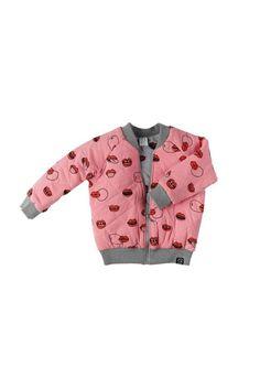 Kukukid Bomber Jacket | Pink Lips