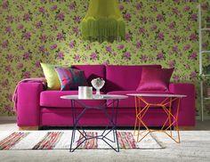 Serien Dream Pink Sofa, Boho, Lounge, Throw Pillows, Living Room, Wallpaper, Vintage, Inspire, Interiors