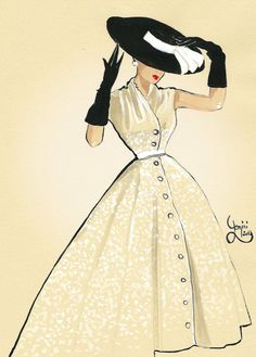 Vintage fashion illustration| Be Inspirational ❥|Mz. Manerz: Being well dressed…