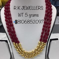 Gold Jewelry Simple, Coral Jewelry, Ruby Jewelry, Gold Jewellery Design, Bead Jewellery, Jewelry Necklaces, Beaded Necklace, Crochet, Emerald Diamond