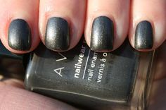 AVON has a lot of great products! I love their nail polishes and eye shadows the most! This is my fav shade; it's called Gunmetal.