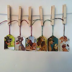 Lady and the tramp gift tags - I can make these!
