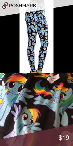 MY LITTLE PONY LEGGINGS Adorable My Little Pony leggings for women. NWOT My Little Pony Pants Leggings
