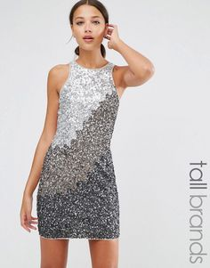 Buy it now. Maya Tall Shift Dress In Tonal Sequins - Grey. Tall dress by Maya Tall, Sequin-embellished front, High neckline, Zip back fastening, Regular fit - true to size, Hand wash, 100% Polyester, Our model wears a UK 8/EU 36/US 4 and is 180cm/5'11 tall. ABOUT MAYA TALL Standout sequins and cool cut-outs help steal the spotlight with Maya Tall�s occasionwear. With a nod to the catwalks, expect need-right-now maxi dresses, hand embellishment and prom styles in longer lengths for…