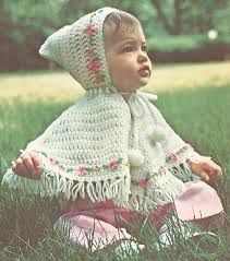 Vintage Crochet Precious Baby Girl Poncho with Hood Pattern Embroidered Flowers PDF Instant DiI need to find a sewing pattern for a poncho like this: square with quadrants of fabric on the bias. Hood or no hood, doesn't matter. Crochet Baby Poncho, Crochet Poncho Patterns, Crochet Baby Clothes, Baby Patterns, Baby Knitting, Square Patterns, Free Knitting, Crochet Capas, Crochet Gratis