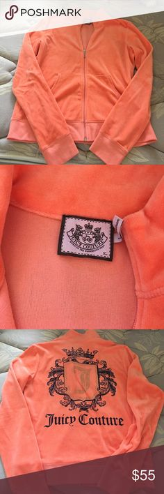 Juicy Couture Track Suit Orange cream colored track suit lightly worn with some imperfections. Juicy Couture Other