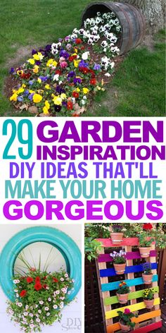 29 Garden Inspiration DIY Ideas These creative garden design DIY projects will add so much color and Pond Design, Diy Design, Garden Design, Modern Design, Amazing Gardens, Beautiful Gardens, Flower Bed Designs, Diy Garden, Garden Ideas