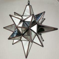 Moravian Antique Mirrored Star of Bethlehem