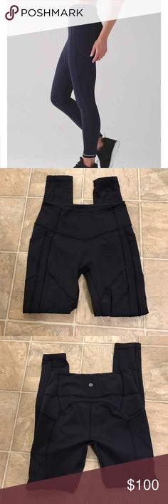 """All The Right Places Pant II 28"""" Lululemon All The Right Places Pant II 28"""" in midnight navy. EXCELLENT used condition, practically new without tags; I bought these off Posh as NWOT and have only worn them twice. Size dot 6 confirmed. Feel free to ask any questions. This is a really good price for the quality of the pant so my price is firm. lululemon athletica Pants Leggings"""
