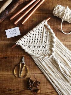 Your place to buy and sell all things handmade Macrame wall hanging macrame nursery wedding wall hanging Macrame Wall Hanger, Macrame Wall Hanging Patterns, Macrame Curtain, Macrame Art, Macrame Design, Macrame Projects, Macrame Patterns, Creations, Wedding Wall