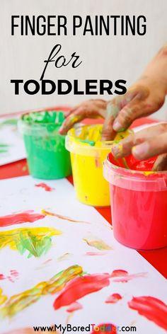 finger painting for toddlers pinterest