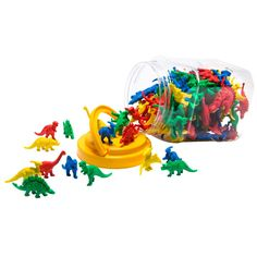 Dinosaur Counter Beads 128 pack