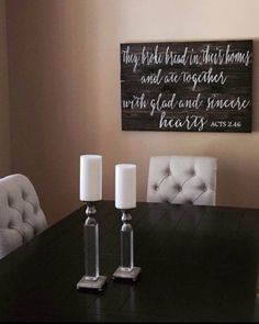 Gorgeous photo of a customer's dining room with her new sign! I think the whole room is beautiful   #etsy #dining #diningroom #interiors #interiordesign #home #woodsign #handmade #handpainted #madewithlove #artist #maker #modern #gift #scripture #christianart #bibleverse #bible #woodwork #wallart #smallbusiness #minneapolis #minnesota #local #minnesotamade #entrepreneur de 42ndstdesigns